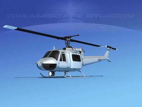 3D bell 205 uh-1b model
