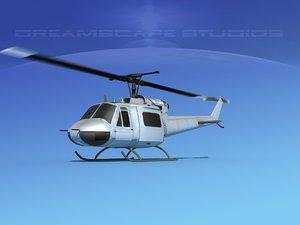 3D model bell 205 uh-1b