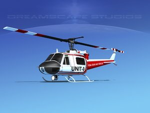 bell rescue helicopter 3D model