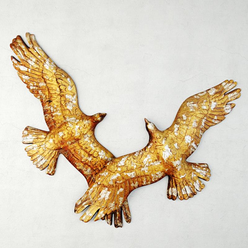3D midcentury bird sculpture model