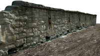 Stone Wall - Low Poly and High Poly