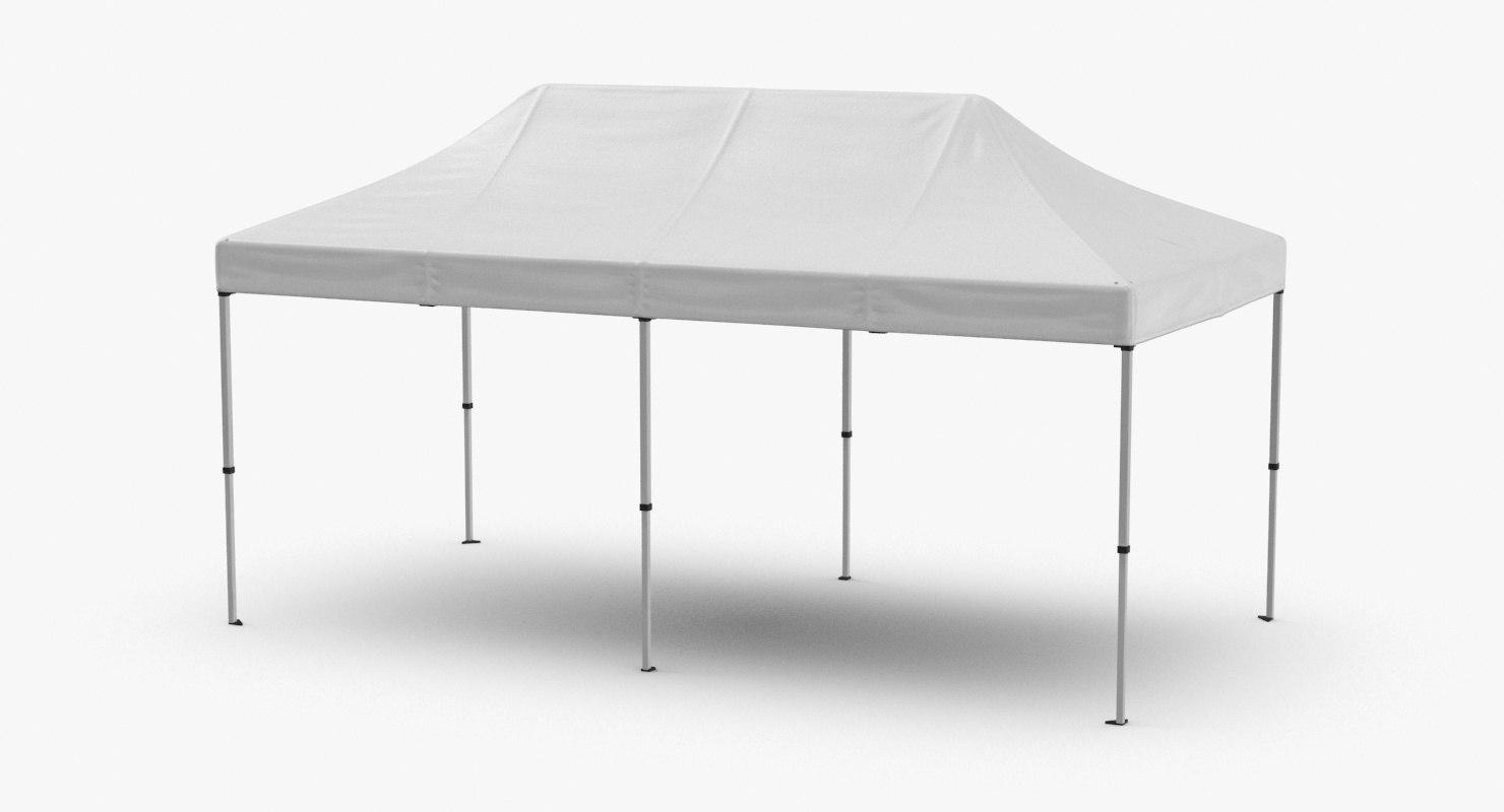 3D model 10x20-tent-01
