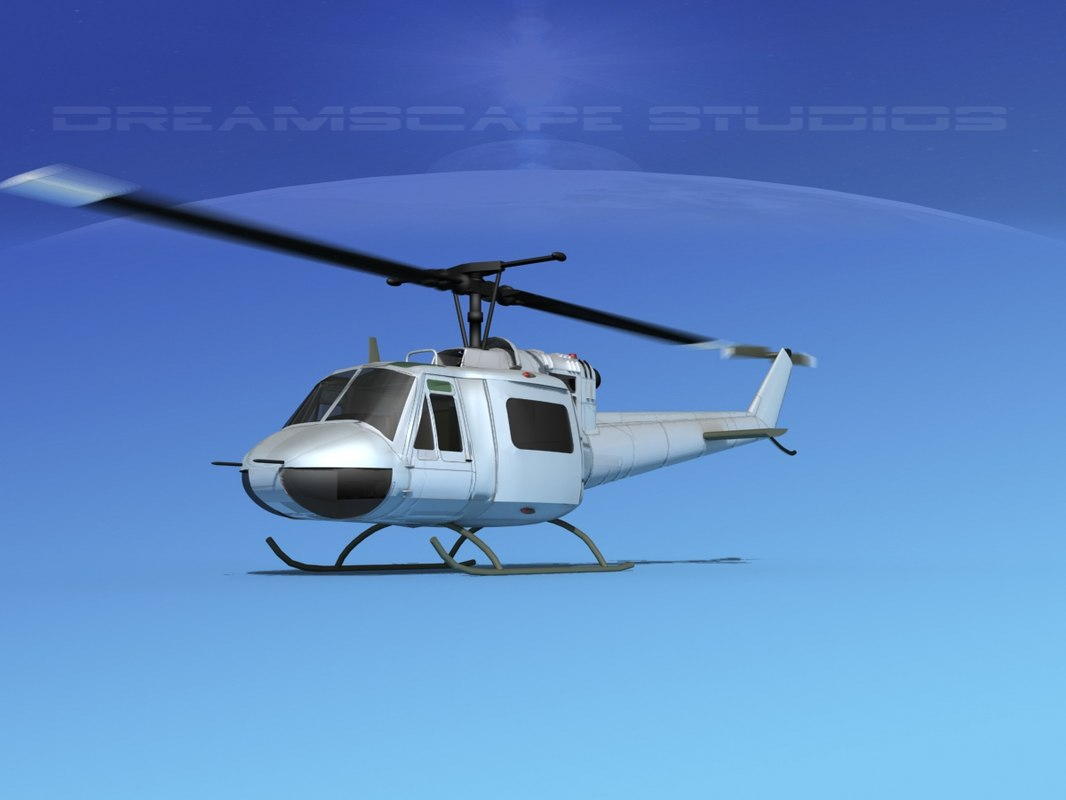 bell 205 uh-1b 3D model