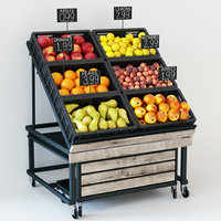 3D fruit display rack model