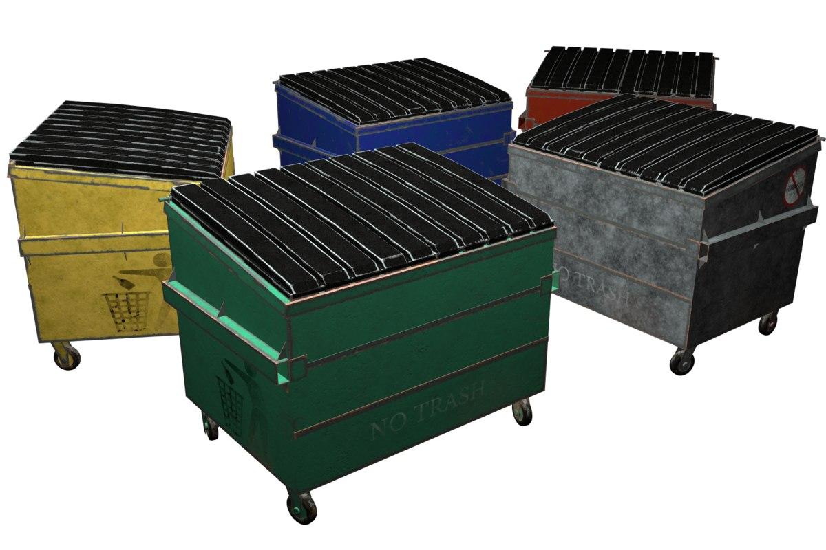dumpster furniture model