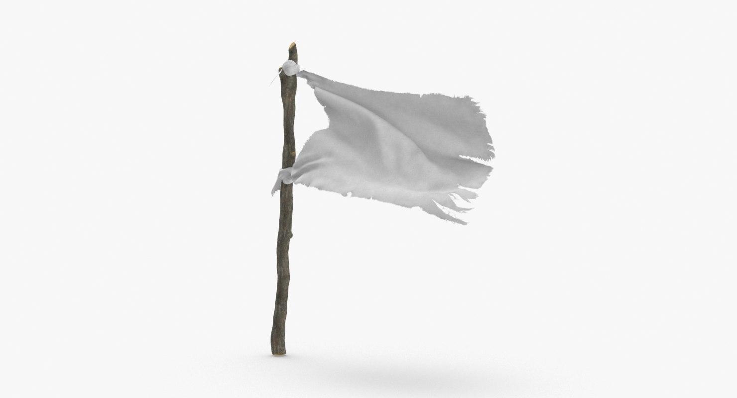 3D white-surrender-flag---01 - TurboSquid 1219033