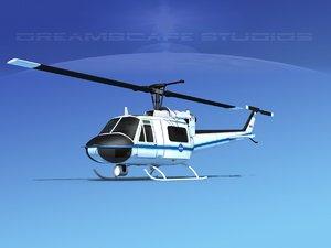 bell 205 uh-1b 3D model
