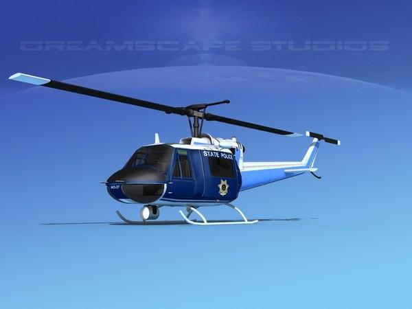 bell 205 uh-1b 3D
