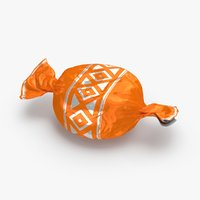 3D hard-candies---orange model