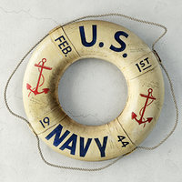 3D ww2 original 1944 navy