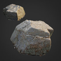 scanned nature stone 027 3D