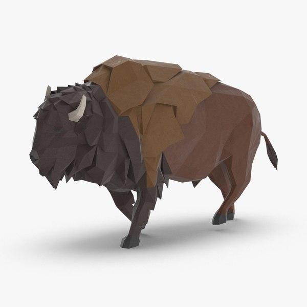 3D buffalo----running model