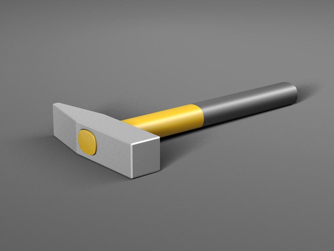 3D realistic hammer