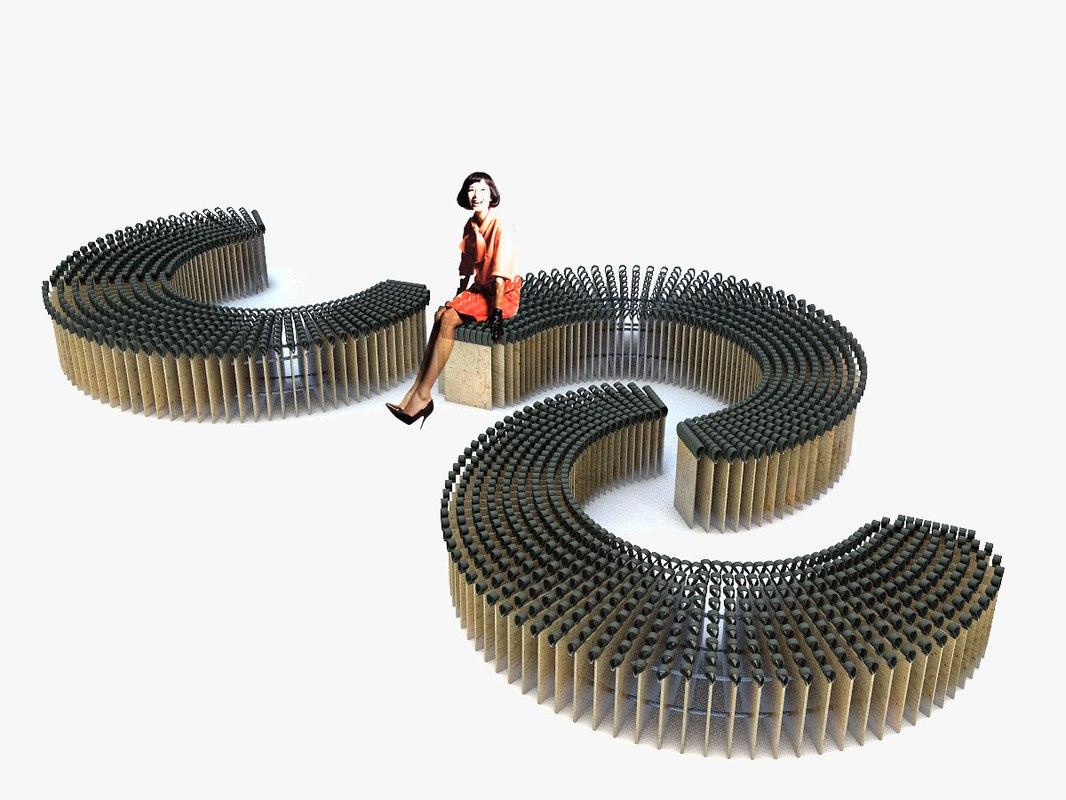 3D model parametric bench
