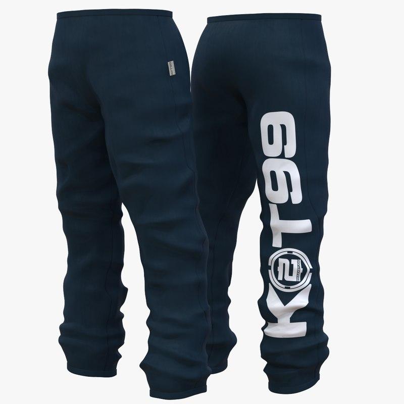 fashion trouser pants 3D