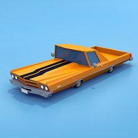 3D chevrolet el camino model