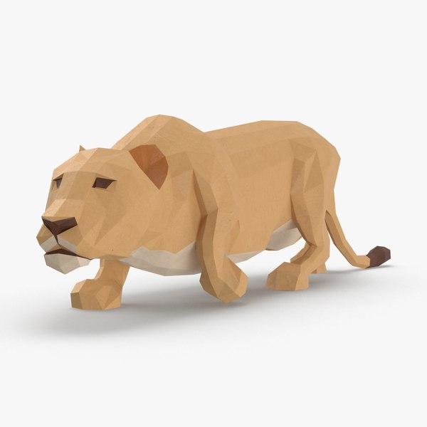 3D model lioness----creeping