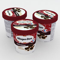 haagen-dazs belgian chocolate icecream 3D model