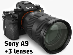 3D sony alpha 9 lenses model