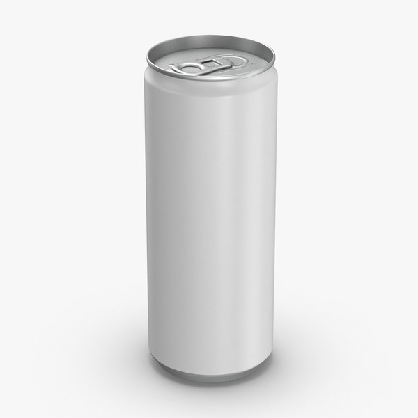 3D model 250ml-soda-can-mockup