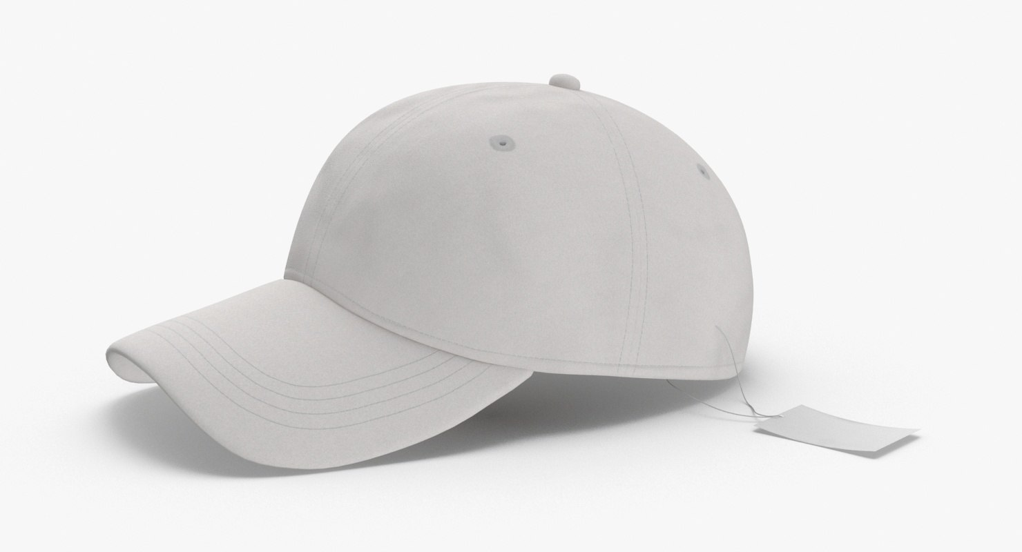 3D baseball-hat-fitted---tag model