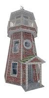3D model lighthouse damage