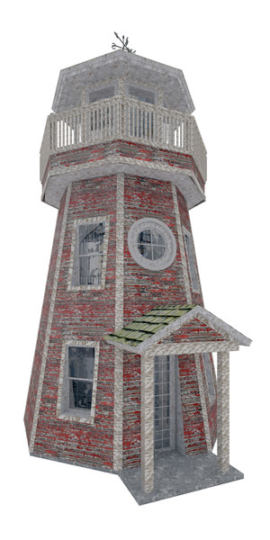 3D model lighthouse damage