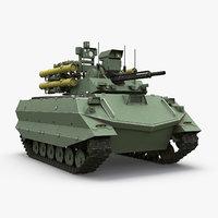 uran-9 unmanned combat 3D model
