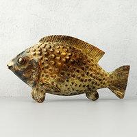 3D bronze african ashanti akan