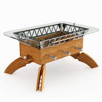 offside football coffee table 3D model