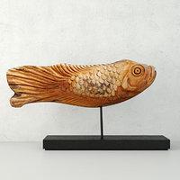 japanese hand carved vintage model