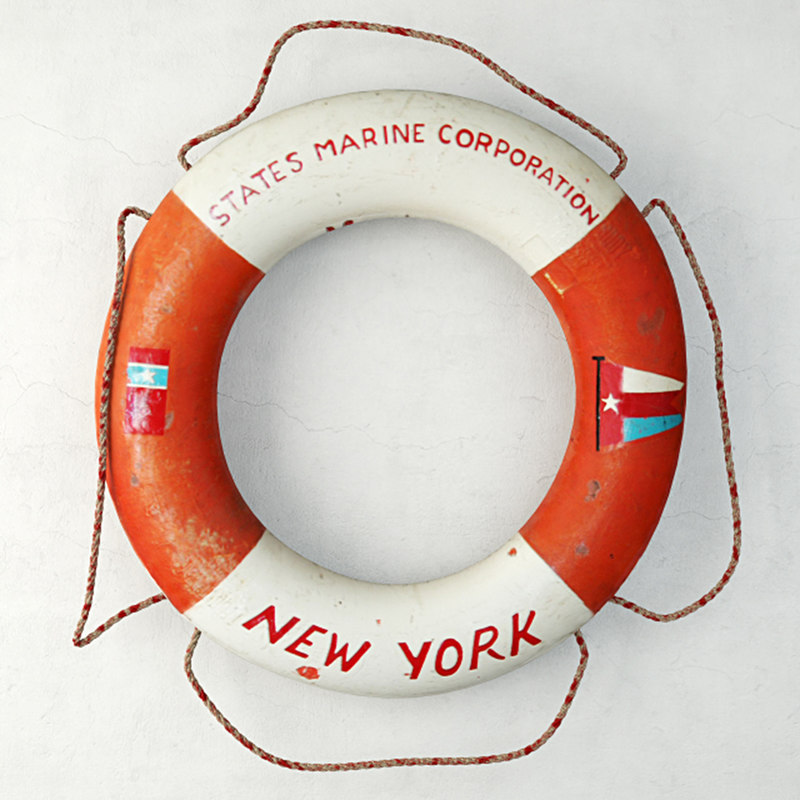 states marine corporation life preserver 3D model