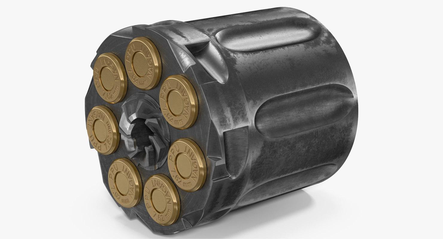 3D model drum revolver