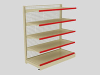 gray brown shelf 3D