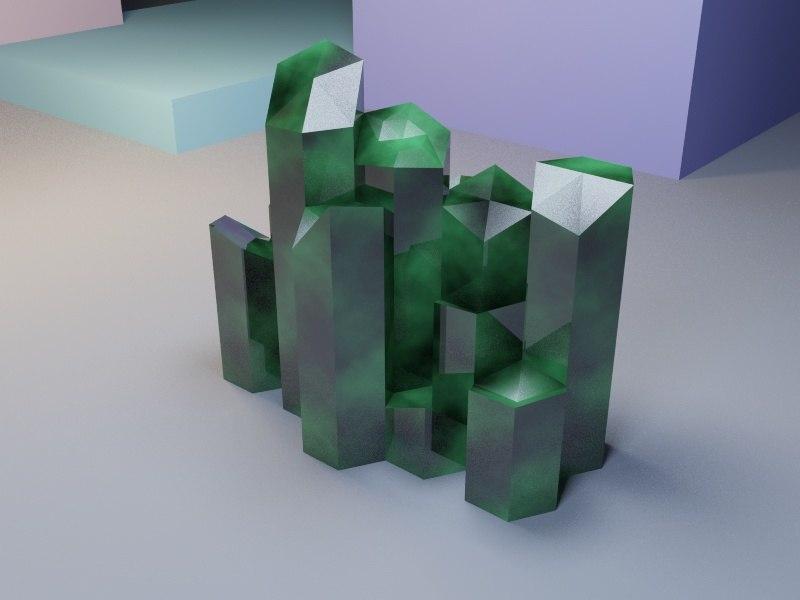 3D model emerald crystal