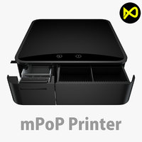 3D cash drawer model