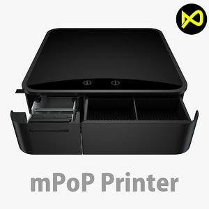 3D cash drawer model
