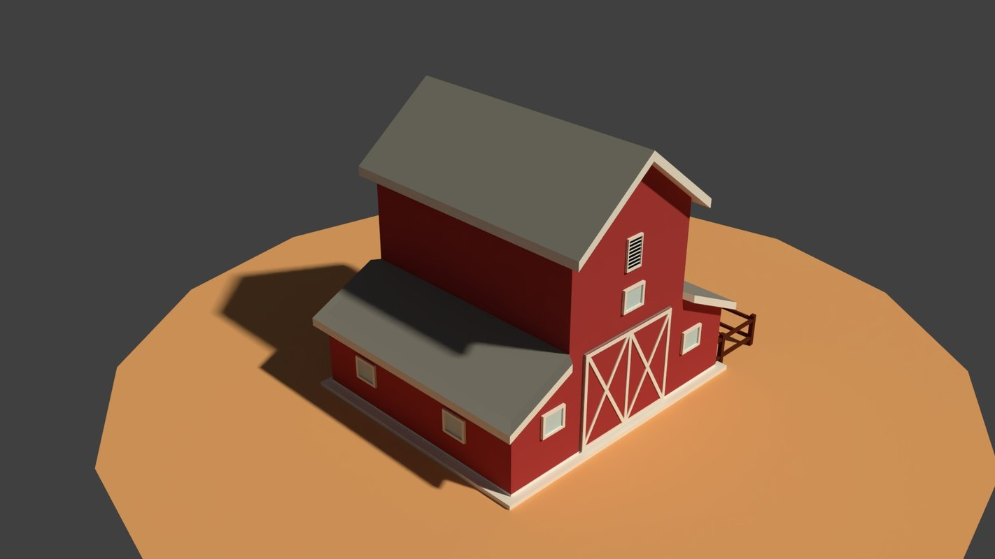 3D cartoony granary