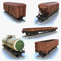 Cargo Wagons Set