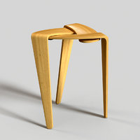 3D stool bihain architectural model