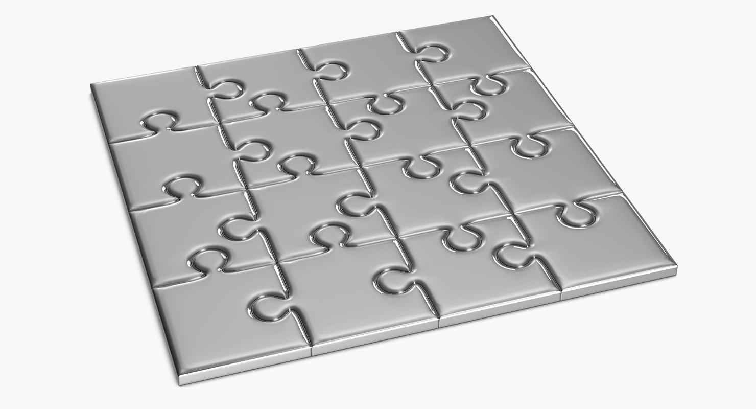 3D model puzzle template