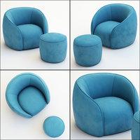 armchair pouf baloo 3D model