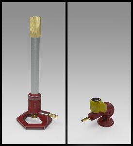 3D bunsen burner valve