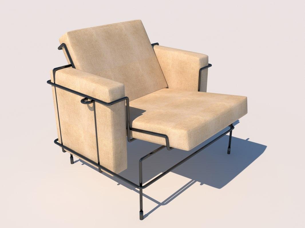 magis traffic chair design 3D