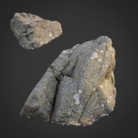 scanned nature stone 028 3D model