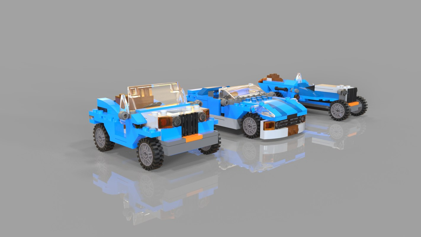 3D model lego pack