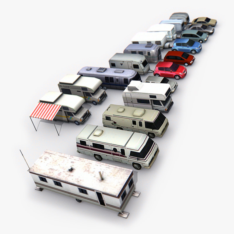 trailers pack 3D model