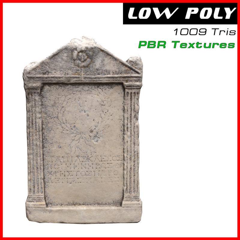 3D model antique plate