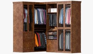 3D wardrobe clothes 09 model