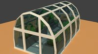 greenhouse plants materials 3D model